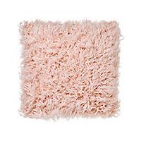 Joyau Faux fur Pink Cushion (L)45cm x (W)45cm