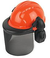 JSP Orange & black Forestry helmet with Ear defenders & visor