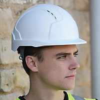 JSP White Evolite Safety helmet