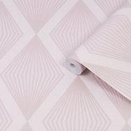 Julien MacDonald Chandelier Pink Glitter effect Smooth Wallpaper