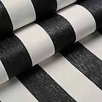Julien MacDonald Glitterati Black & white Striped Wallpaper