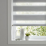 Kala Corded Grey Striped Day & night Roller Blind (W)90cm (L)180cm
