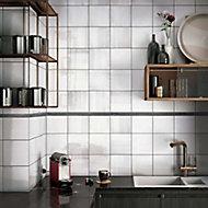 Karat Black Flat Glass Border tile, (L)600mm (W)20mm