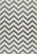 Kayla Geometric Blue, grey & white Reversible Rug (L)1.7m (W)1.2m