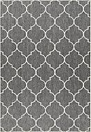 Kayla Geometric Grey & white Reversible Rug (L)1.7m (W)1.2m