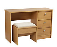 Kendal Oak effect Dressing table stool (H)470mm