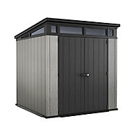Keter Artisan 7x7 Pent Tongue & groove Grey Plastic Shed with floor