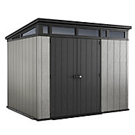 Keter Artisan 9x7 Pent Tongue & groove Grey Plastic Shed with floor