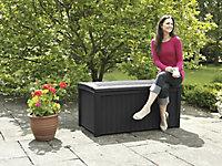 Keter Borneo Rattan effect Plastic Garden storage box