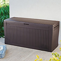 Keter Comfy Wood effect Plastic Garden storage box