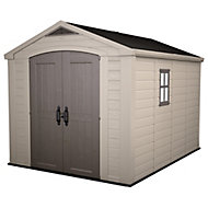 Keter Factor 8x11 Apex Beige Shed with floor