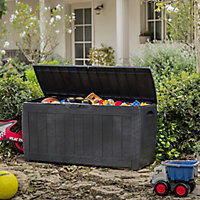 Keter Hollywood Wood effect Plastic Garden storage box