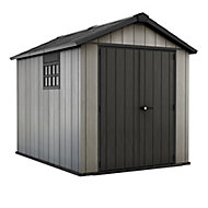 Keter Oakland 7.5x9 Apex Anthracite grey Plastic Shed with floor