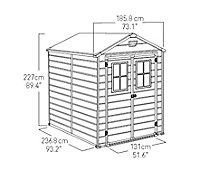 Keter Scala 6x8 Apex Tongue & groove Plastic Shed