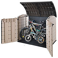 Keter Store it out ultra Wood effect Plastic Bike store