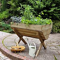 Kitchen Garden Wooden Rectangular Planter 100cm