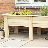 Kitchen Garden Wooden Rectangular Planter 180cm