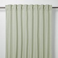 Klama Blue & green Plain Unlined Pencil pleat Curtain (W)140cm (L)260cm, Single