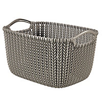 Knit collection Harvest brown 3L Plastic Storage basket (H)140mm (W)250mm