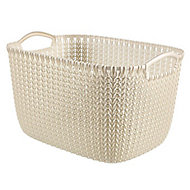 Knit collection Oasis white 8L Plastic Storage basket (H)170mm (W)300mm