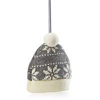 Knitted Dark grey Hat Decoration