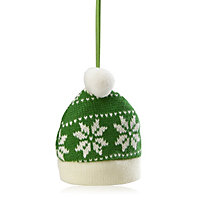Knitted Green Hat Decoration