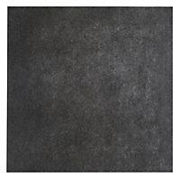 Konkrete Anthracite Matt Modern Concrete effect Porcelain Wall & floor Tile, Pack of 10, (L)426mm (W)426mm