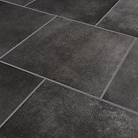 Konkrete Grey Matt Modern Concrete effect Porcelain Wall & floor Tile, Pack of 10, (L)426mm (W)426mm