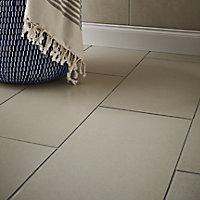 Konkrete Ivory Matt Modern Concrete effect Porcelain Wall & floor Tile, Pack of 8, (L)307mm (W)617mm
