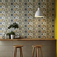 Konkrete Multicolour Matt Ceramic Wall tile, Pack of 14, (L)500mm (W)200mm