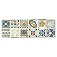 Konkrete Multicolour Matt Concrete effect Ceramic Wall tile, Pack of 8, (L)600mm (W)200mm