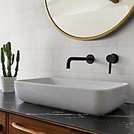 Konkrete White Matt Porcelain Wall & floor Tile, Pack of 34, (L)200mm (W)200mm