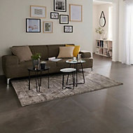 Kontainer Anthracite Matt Concrete effect Porcelain Floor Tile Sample