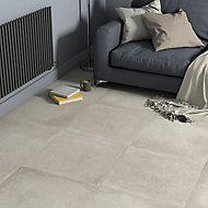Kontainer Greige Matt Concrete effect Porcelain Wall & floor Tile Sample