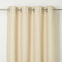 Kosti Cream Plain Unlined Eyelet Curtain (W)117cm (L)137cm, Single