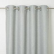 Kosti Green Plain Unlined Eyelet Curtain (W)167cm (L)228cm, Single