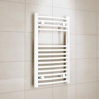 Kudox 250W Electric White Towel warmer (H)700mm (W)400mm