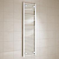Kudox 637W Electric White Towel warmer (H)1600mm (W)450mm
