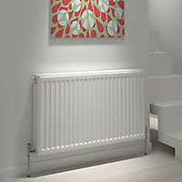 Kudox Type 22 Double Panel Radiator, White (W)600mm (H)400mm