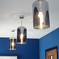 Kynes Chrome effect Pendant Ceiling light