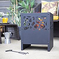 La Hacienda Fire basket Steel Firepit