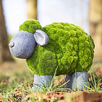 La Hacienda Flocked sheep Garden ornament