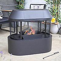 La Hacienda Steel Fireplace