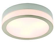 Laguna Chrome effect 3 Lamp Bathroom Ceiling light