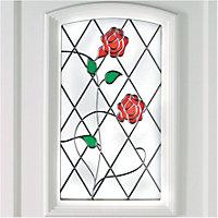 Lainston 1 panel White PVCu Glazed External Front door & frame RH, (H)2055mm (W)920mm