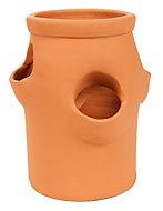 Laleh Terracotta Round Plant pot (Dia)16.5cm