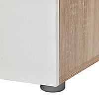 Lamego Matt & high gloss white oak effect 4 Drawer Chest of drawers (H)681mm (W)802mm (D)402.5mm