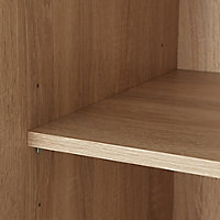 Lamego Modern Matt & high gloss white oak effect Triple Wardrobe (H)2009mm (W)1181mm (D)497.5mm