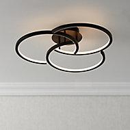 Lanson Matt Black Ceiling light
