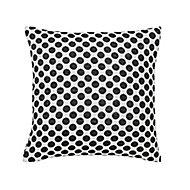 Larinar Spotted Black & white Cushion (L)50cm x (W)50cm